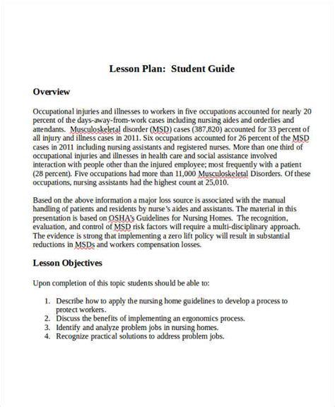 40 lesson plan sles free premium templates