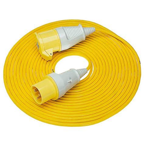 110v cable colour defender e85121 110v 14m extension leads 16s 2 5mm