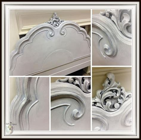 spray paint queenstown size headboard painted with layers of general