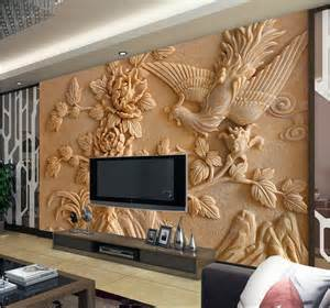 What Are Wall Murals europea 3d wall murals wallpaper photo relief phoenix and peony for
