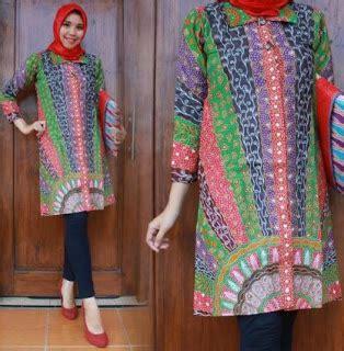 Tunik Baju Menyusui Dress Tunik Batik Kain Katun 36 model tunik batik terbaru 2018 modern cantik model baju muslim kebaya modern 2018