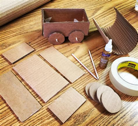 How To Make A Paper Wagon - gold covered wagon projects for