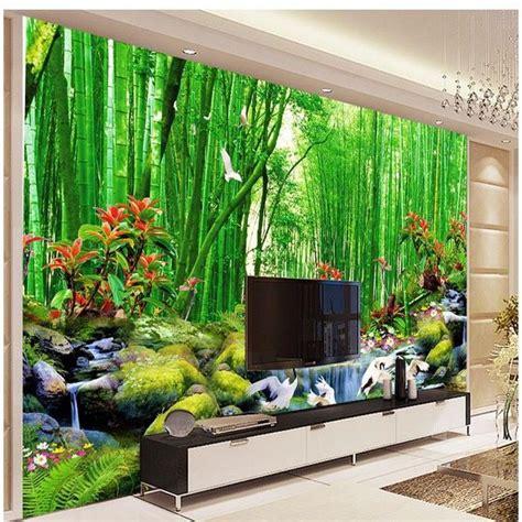 Bamboo Mural Walls - hd bamboo murals tv backdrop 3d wall murals wallpaper for