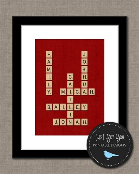 is fe a word in scrabble family gift scrabble tiles wall family