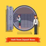 cassette di sicurezza bancarie cassette di sicurezza in una volta di banca fotografia