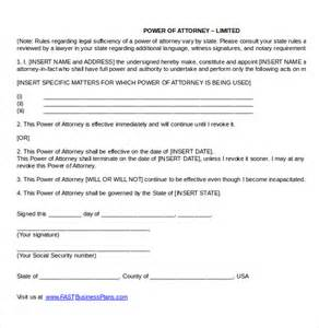 Poa Template by Power Of Attorney Templates 10 Free Word Pdf Documents