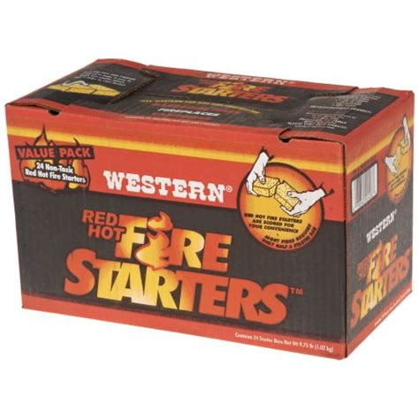 Fireplace Starters by Western Starters 24 Pack Academy