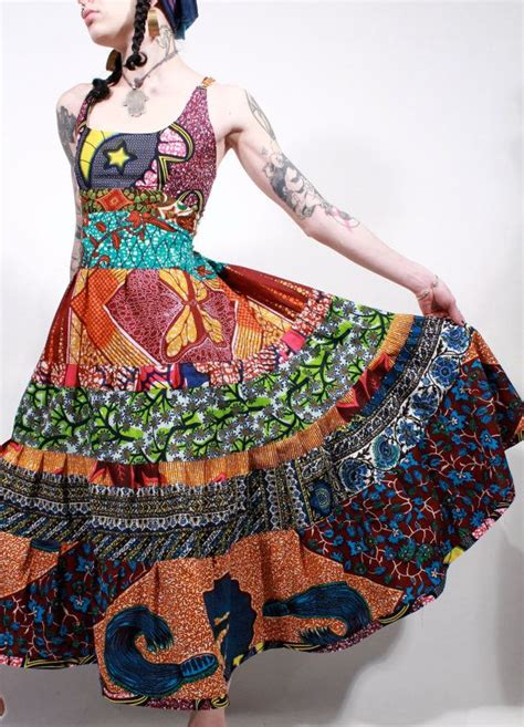 Ethnic Batik Maxi wax print tribal ethnic bohemian batik