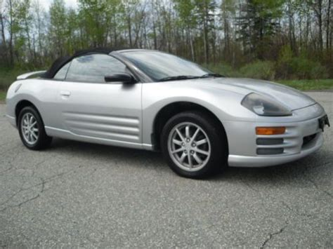 2002 mitsubishi eclipse spyder gs sell used 2002 mitsubishi eclipse spyder gs convertible 2