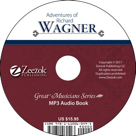 format of audio books adventures of richard wagner audio book on cd mp3 format