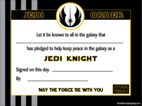 wars jedi certificate template free wars certificate printable certificate awards