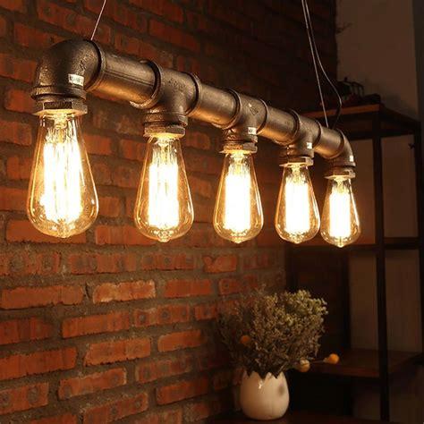vintage industriale edison lampadario soffitto metallo