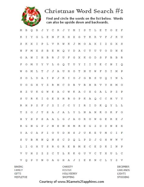printable christmas wordsearch for adults 3 garnets 2 sapphires free printables christmas word