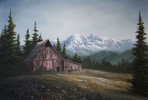 bob ross painting a barn quot the lonely barn quot by kevin hill paintwithkevin kevin