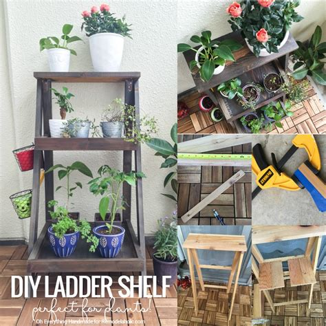 Diy Garden Shelf by Remodelaholic Tutorial How To Build A Ladder Plant Stand