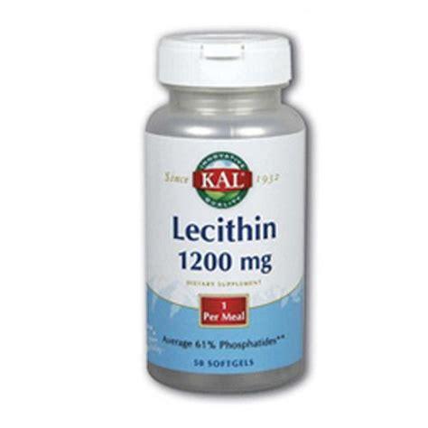Detox Lecithin by Kal Lecithin 1200 Mg 50 Softgels Evitamins