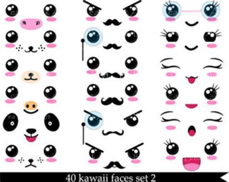 imagenes de ojos kawaii items similar to emotion face st set on etsy