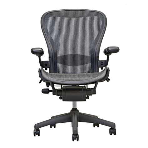 herman miller aeron chair open box size  fully loaded hardwood caster ebay