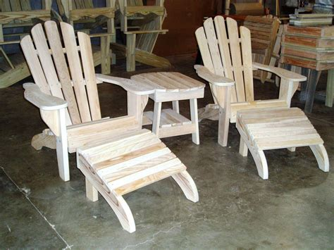 Unfinished Wood Adirondack Chairs by Garden Unfinished Adirondack Chairs The