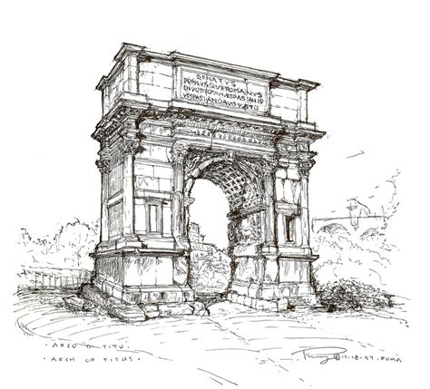 B Arch Sketches by Arch Of Titus By Philiopolis On Deviantart