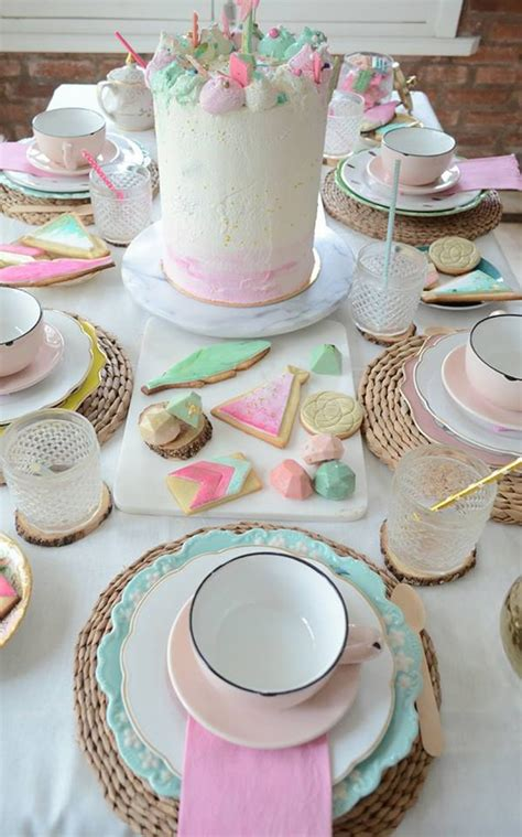 boho watercolor themed birthday party pretty  party party ideas