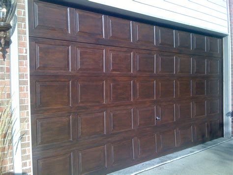 faux garage door painting every spare moment time underestimated faux wood garage
