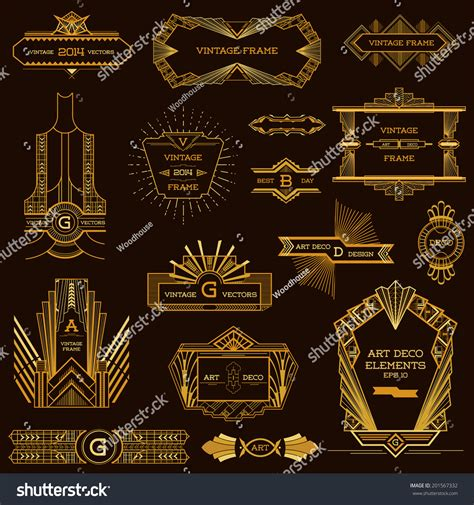 art deco design elements vector art deco vintage frames and design elements in vector