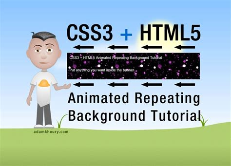 tutorial css3 html5 html5 css3 animated repeating tile background keyframes