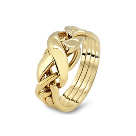 mens gold 4rx m puzzle rings creations
