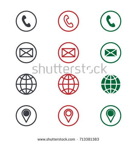 contact us vector illustration stock vector 624322523