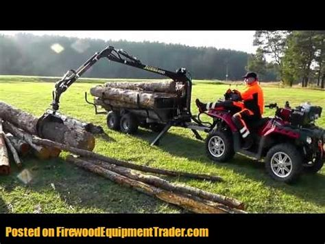 vahva jussi 400 atv log grapple trailer grapples