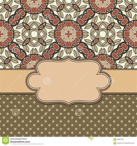 flower pattern in circle seamless circle vintage flower pattern stock vector