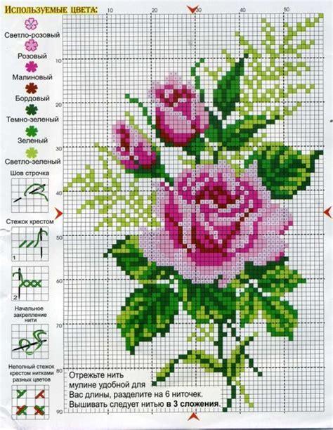 punto de cruz imagenes esquemas graficos y patrones flores para bordar en punto de cruz m 225 s m 225 s punto de
