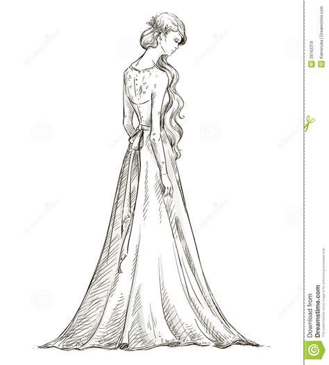 Brautkleider Zeichnen Lernen by Sch 246 Nes M 228 Dchen Mit Dem Langen Haar Braut Brautkleid