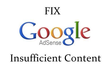 adsense insufficient content how to fix google adsense disapproved insufficient content