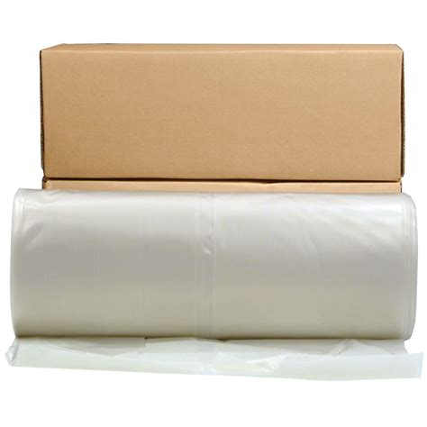 husky 24 ft x 100 ft clear 6 mil plastic sheeting