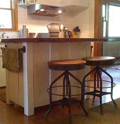 hand made kitchen island mustard base with antique walnut homemade kitchen island project completed