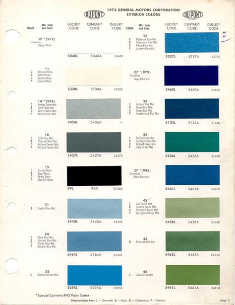 xvon image chevy paint codes