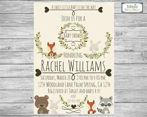 Woodland Themed Baby Shower Invitations by Best 25 Forest Baby Showers Ideas On