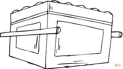 the ark of covenant coloring page coloring pages