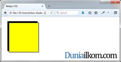 tutorial membuat css eksternal tutorial css3 cara membuat efek bayangan box shadow