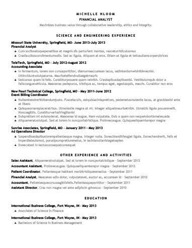 Free Chronological Star Showing CV Resume Template in