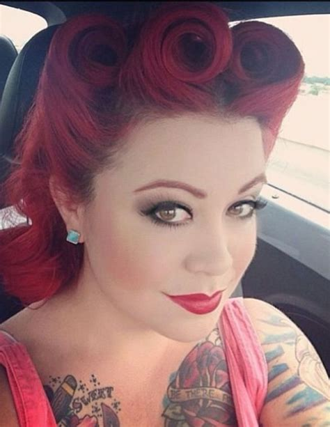 red hair 40s retro hairstyles rockabilly hairstyles pinterest