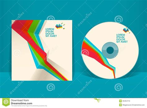cd cover design template royalty free stock photo image