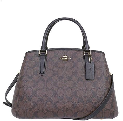 Coach Small Margot Carryall Black buy coach f58310 small margot carryall in signature imitation gold brown black handbags