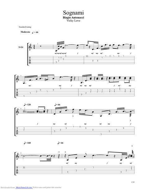 testo sognami sognami guitar pro tab by biagio antonacci musicnoteslib