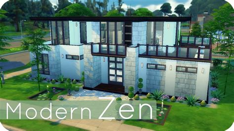 the sims house building modern abode speed build youtube idolza sims 4 speed build modern zen family home youtube