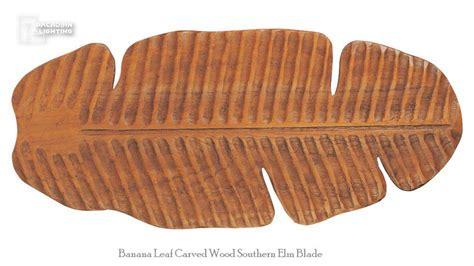 elm ceiling fan monte carlo fan vc5b15 52 quot banana leaf carved wood