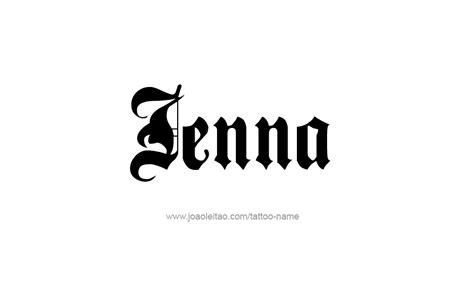jenna tattoo designs name designs