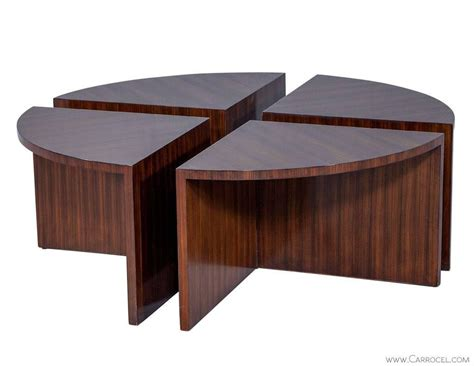 Nest Of Coffee Tables Modern Duke Modern Mahogany Cocktail Table With Nesting Tables At 1stdibs